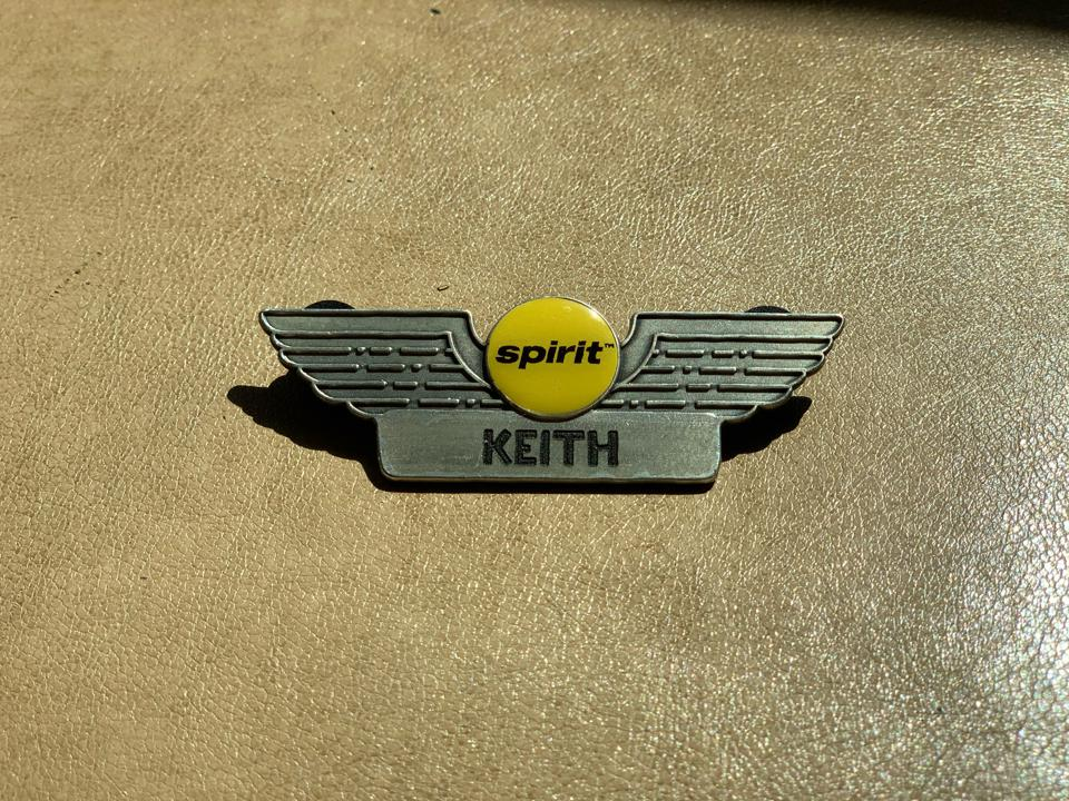 A pin with wings