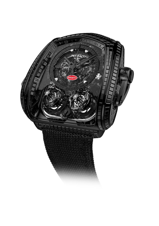 Jacob & Co., Bugatti, Jacob & Co. Twin Turbo Furious La Montre Noire Bugatti Edition