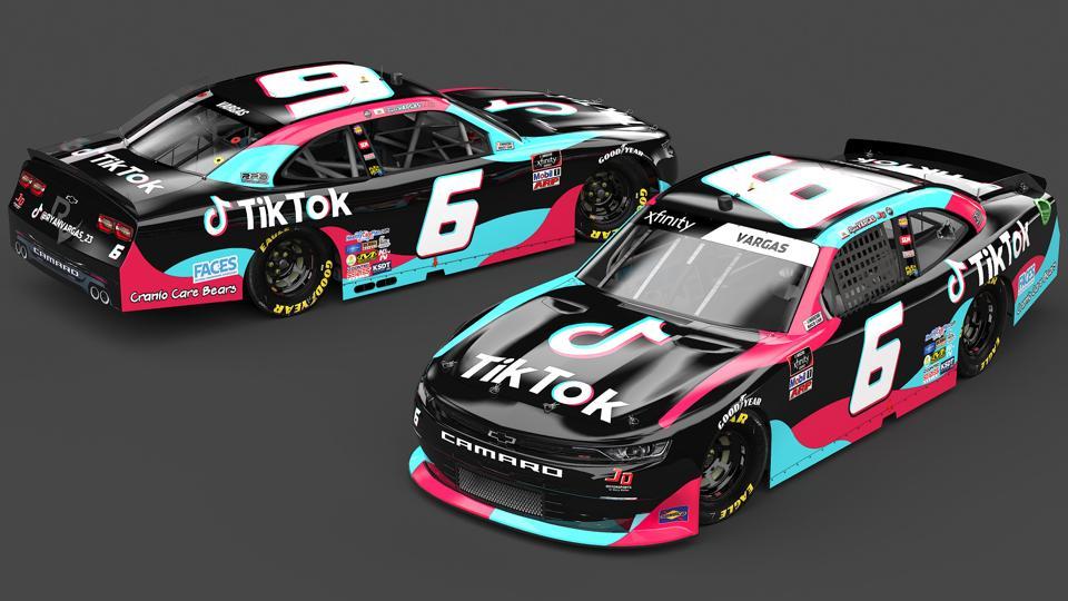 Tiktok Sponsors Nascar Xfinity Series Racer Ryan Vargas