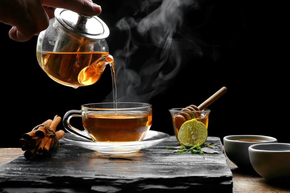 Aromatic herbal tea.
