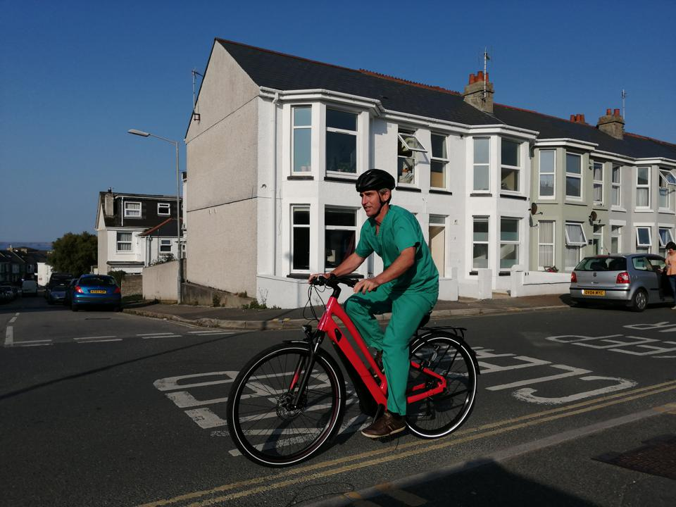 Doctor on e-bike