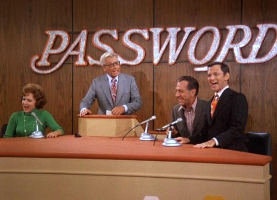 Felix (Tony Randall) and Oscar (Jack Klugman) appear on the ABC daytime game show ″Password″ (originally telecast on December 1, 1972).