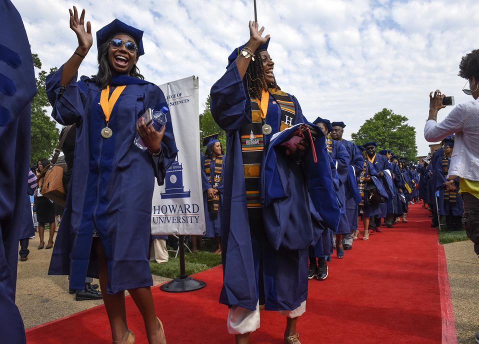 WASHINGTON, DC - Howard University commencement ceremonies