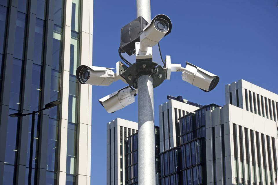 Surveillance camera in London
