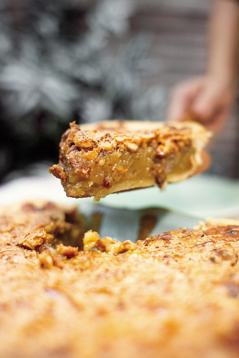 Maple-Whiskey Walnut Pie