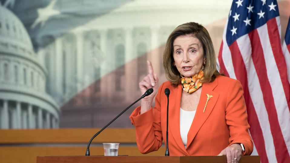 Speaker Pelosi Holds Her Weekly News Conference On Capitol Hill
