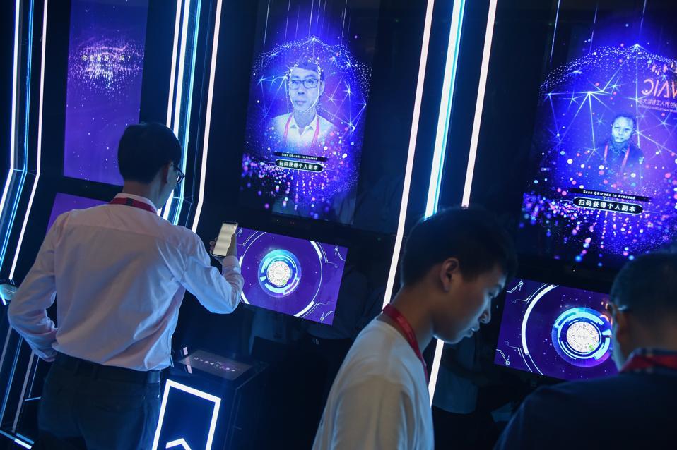 Facial scanning using AI
