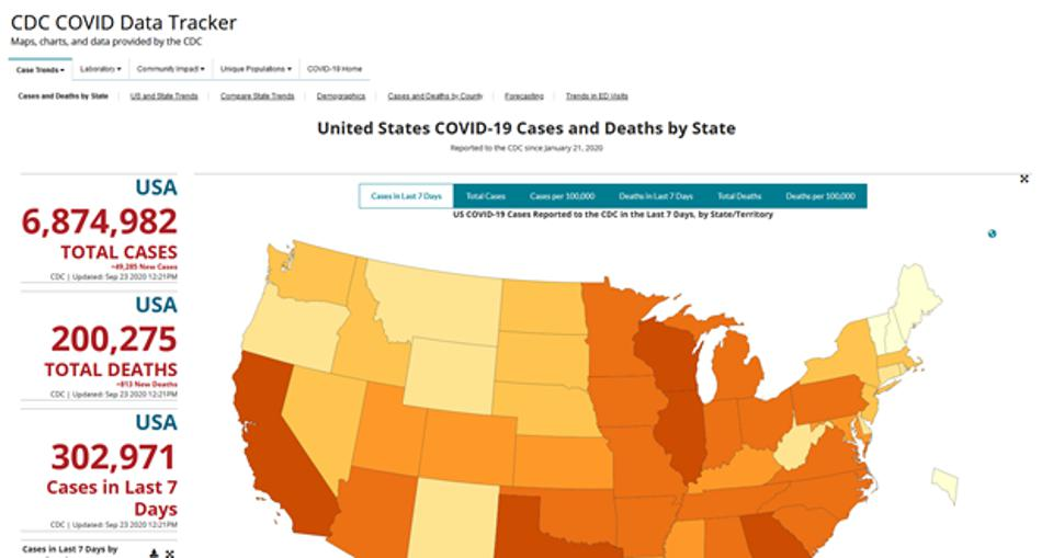 U.S. Covid-19 Cases and Deaths by State