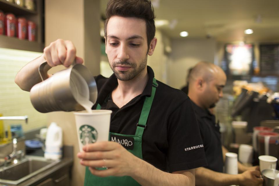 Operations Inside A Starbucks Corp. Coffee Shop