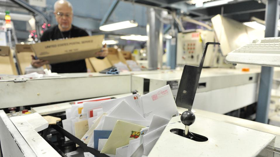 U.S. Postal Service mail sorting equipment