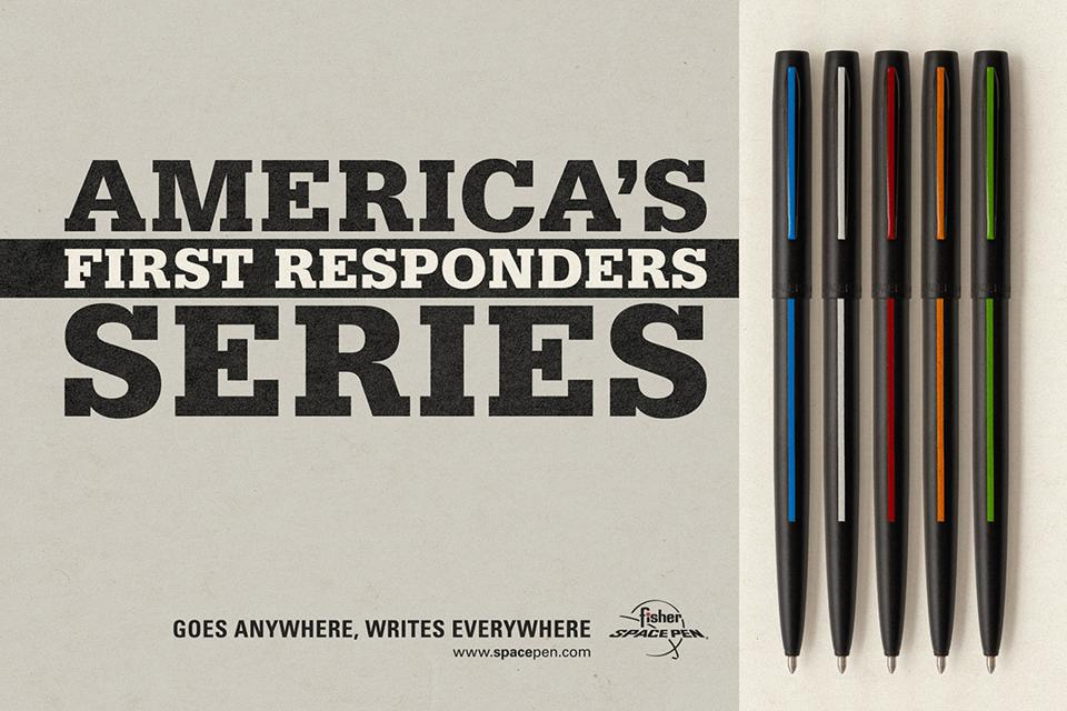 First Responders Series of ballpoint pens.