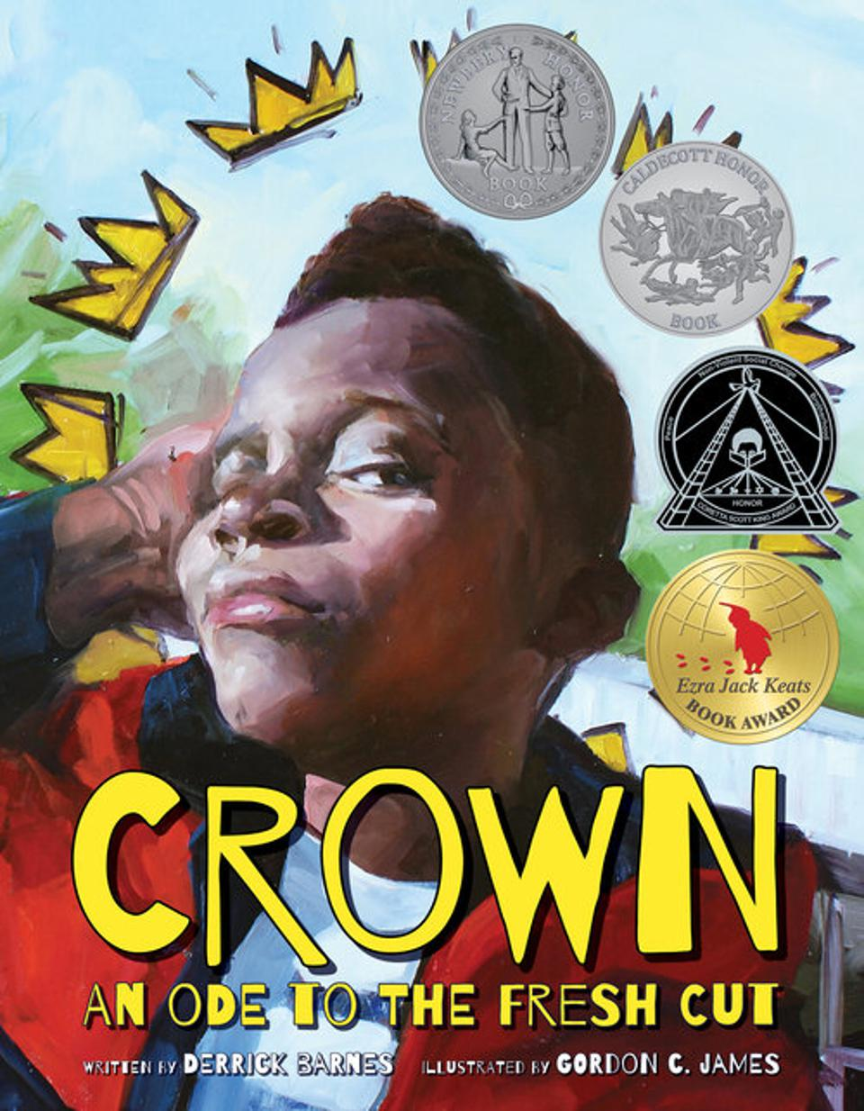 crown an ode to the fresh cut children's book derrick barnes gordon james