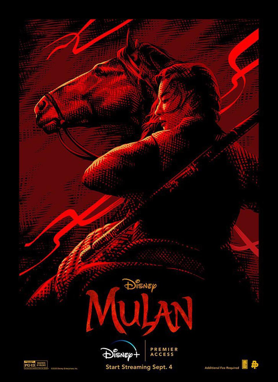 Official poster for Disney's ″Mulan.″