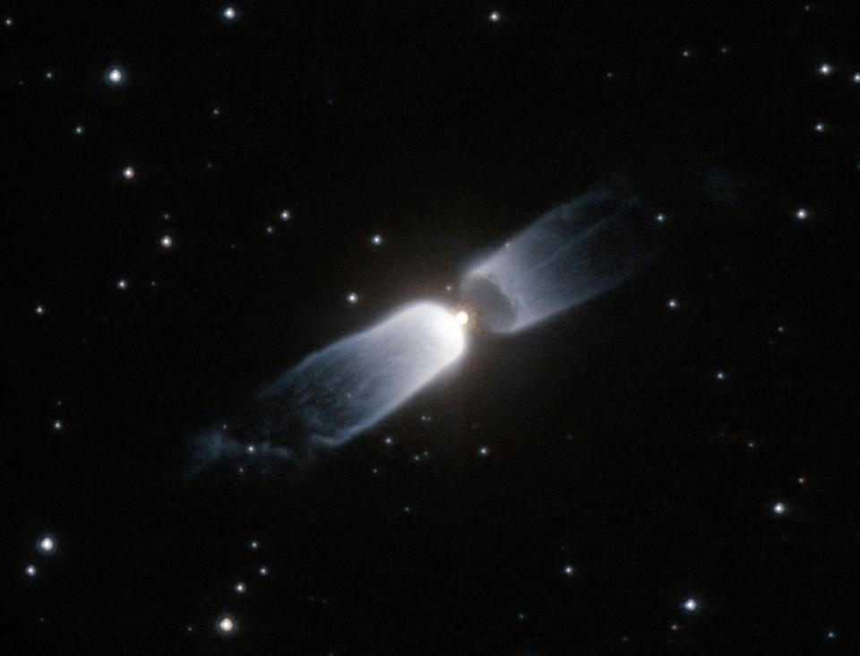 This protoplanetary nebula shows clear evidence of a bipolar configuration.