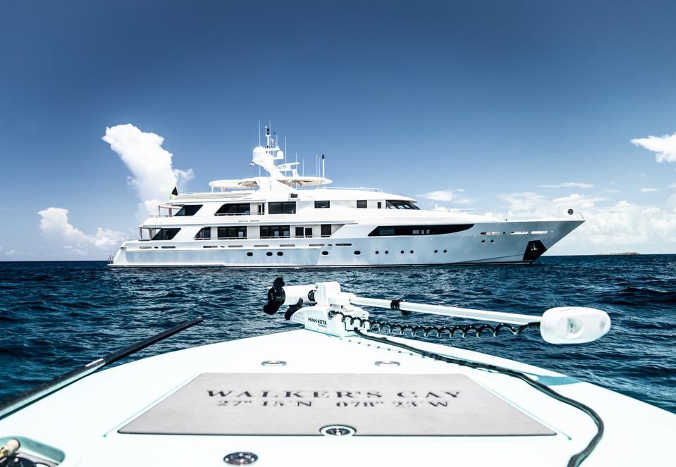 Allen's yacht Gigi is the mothership of his fleet.