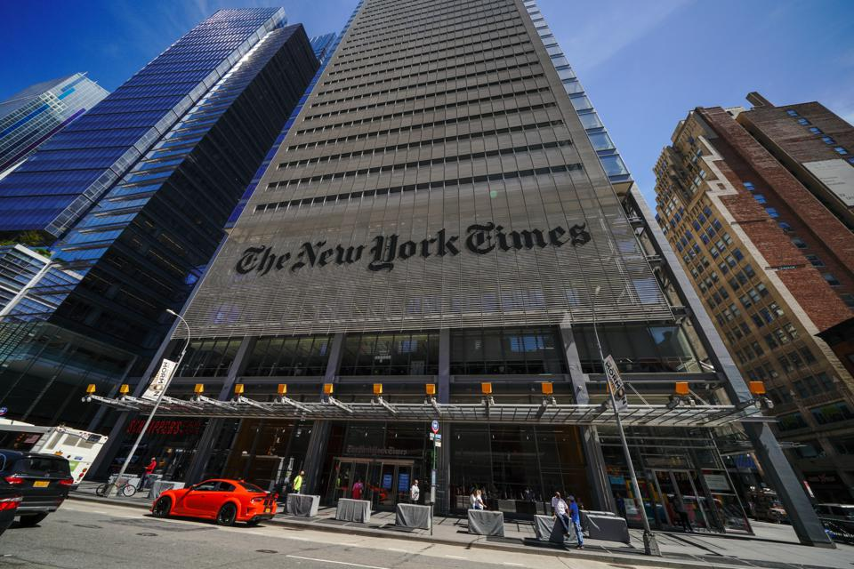 A view of The New York Times Building Headquarters.