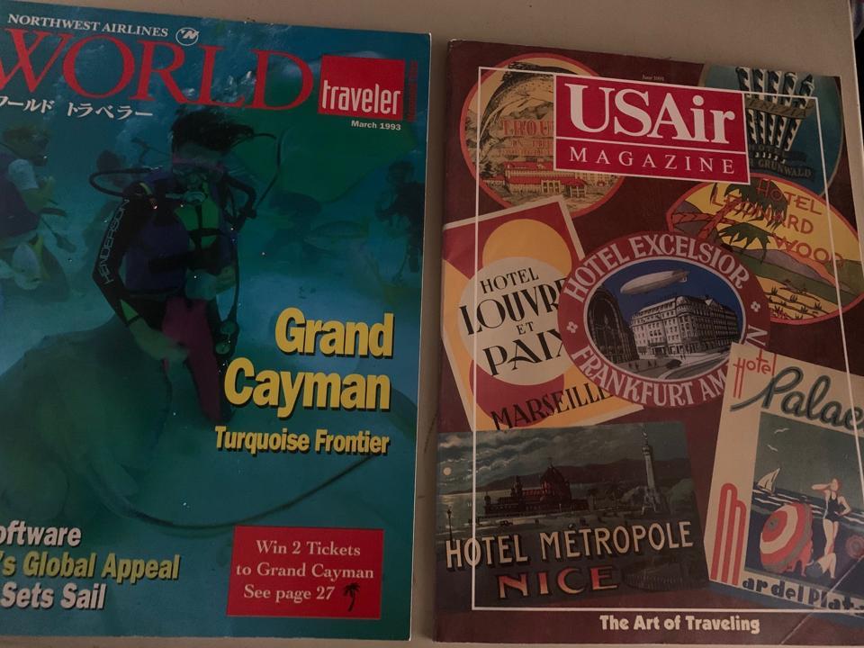 Image of Northwest and US Air magazines