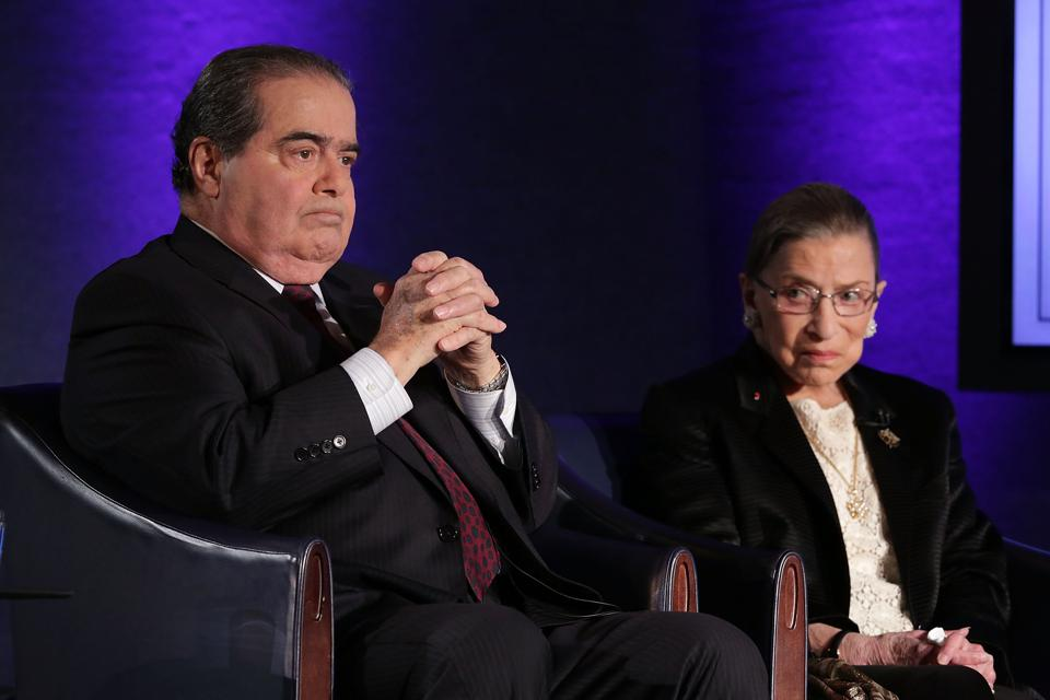Supreme Court Justices Scalia and Ginsburg Discuss First Amendment At Forum