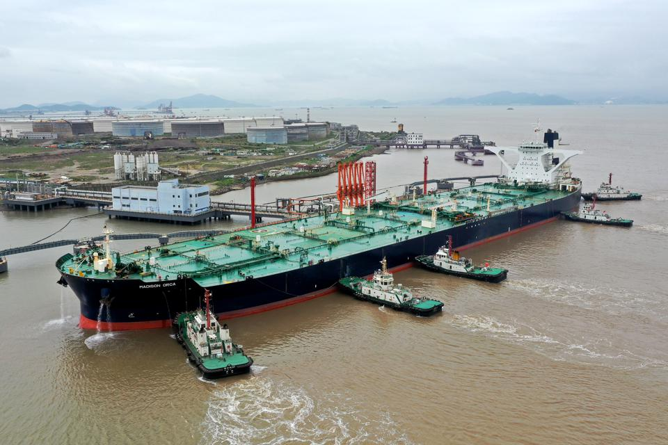 Oil Tanker Madison Orca Unloads At Zhoushan Port