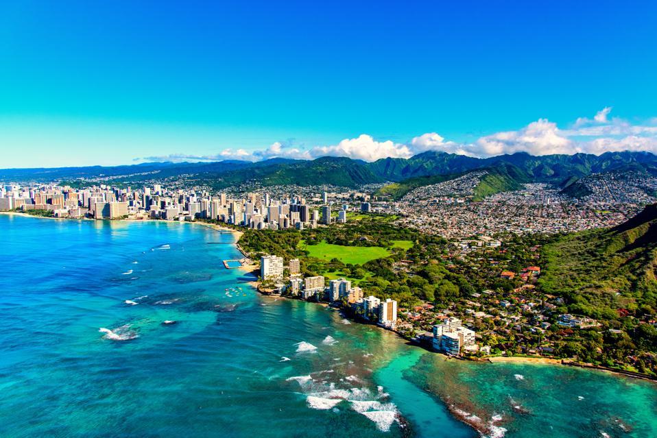 Honolulu Hawaii from Above