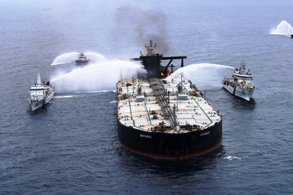 3 Sep 2020: a major explosion and fire on board a Panama-flagged oil supertanker off the coast of Sri Lanka, put the entire country at risk of 2 million barrels of oil being leaked.