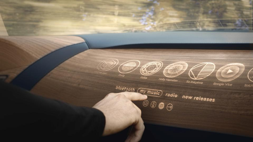 Woodoo's unique translucent technology allows to digitize wooden dashboards in cars
