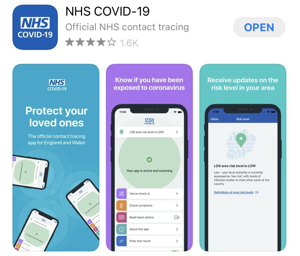 NHS Covid-19 Track and Trace app.