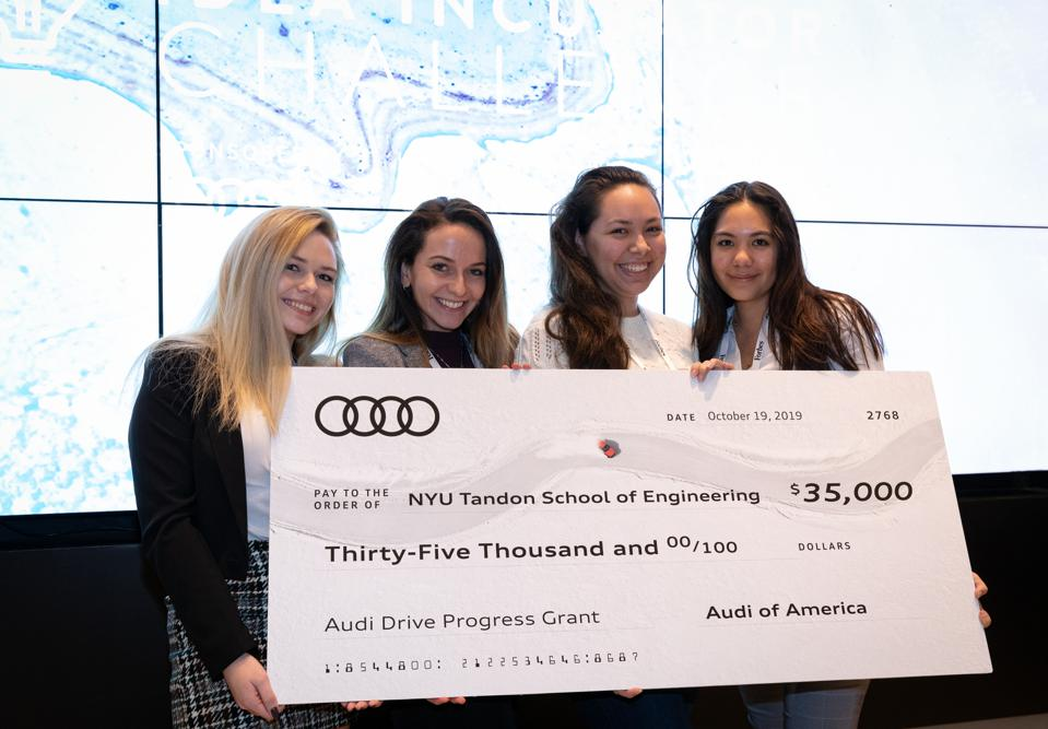 Winning members of the Forbes & Audi Idea Incubator Challenge