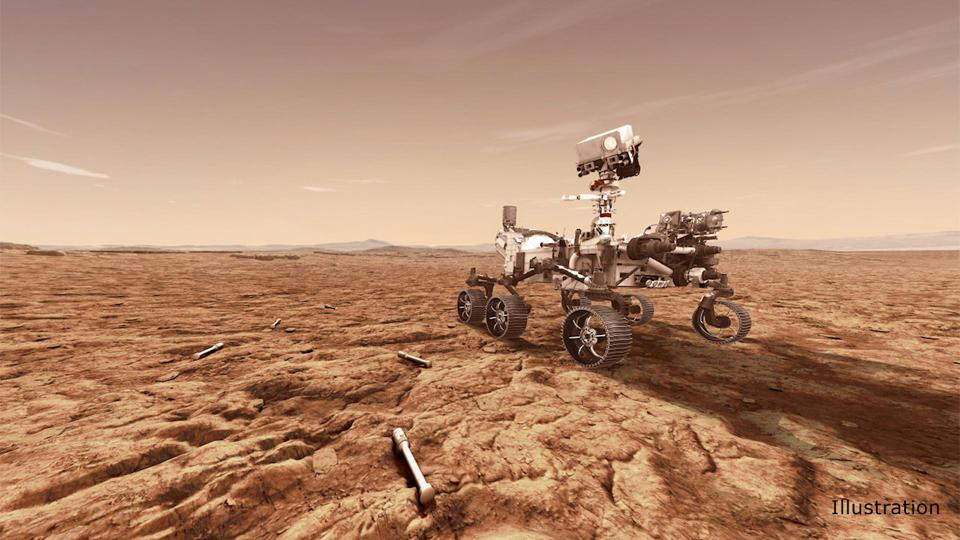 Artist's concept of the NASA Perseverance rover.