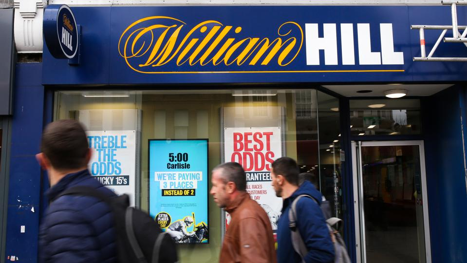 An exterior view of William Hill in London...