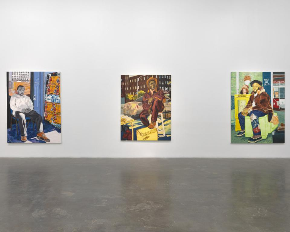 An installation shot from Jordan Casteel's Within Reach, at the New Museum until January 3.