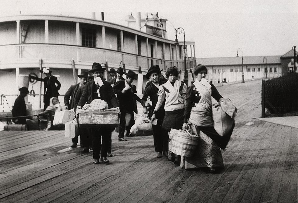 Emigrants landing at Ellis Island, New York