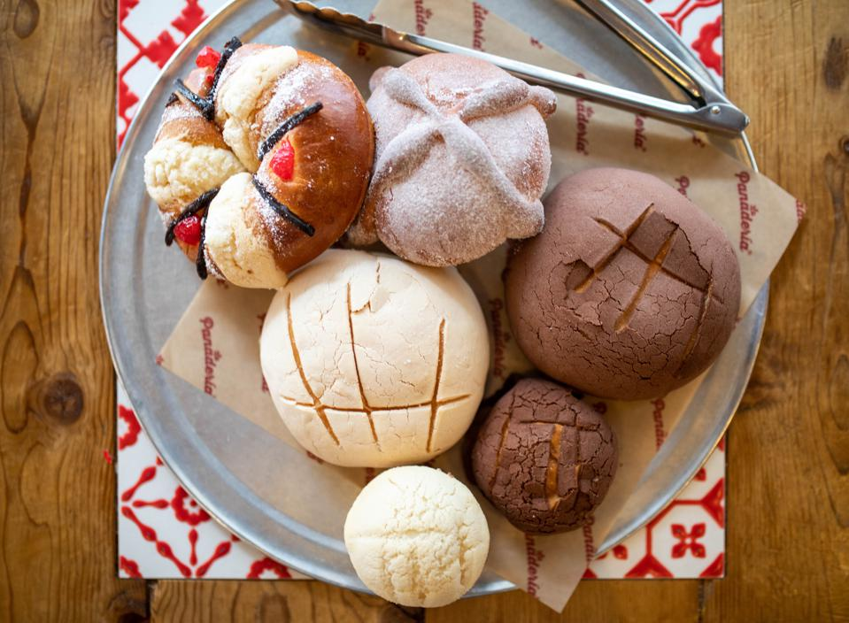 Tray of pan dulce Mexican pastries