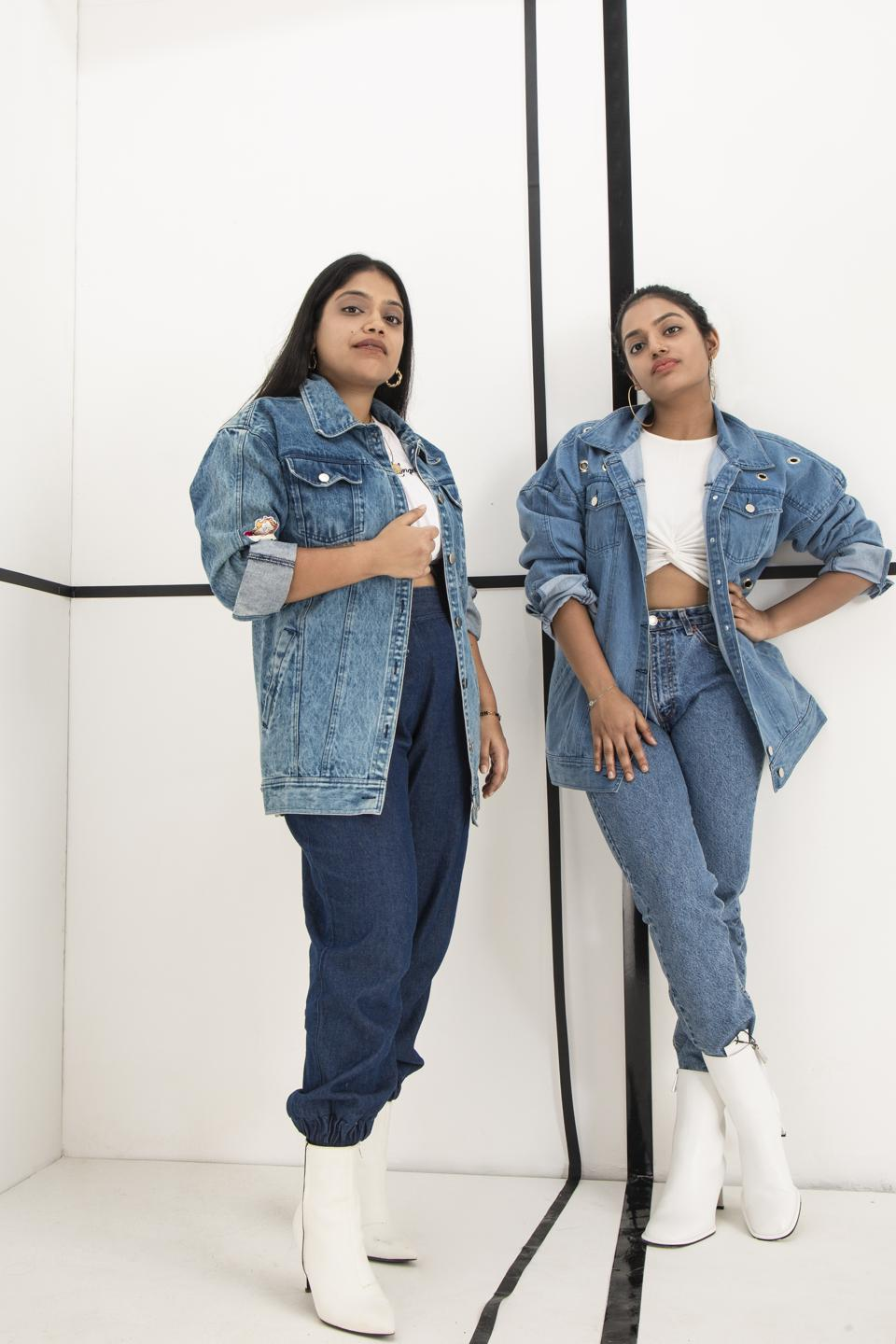 There! Denim Brand Founders Model their latest collection