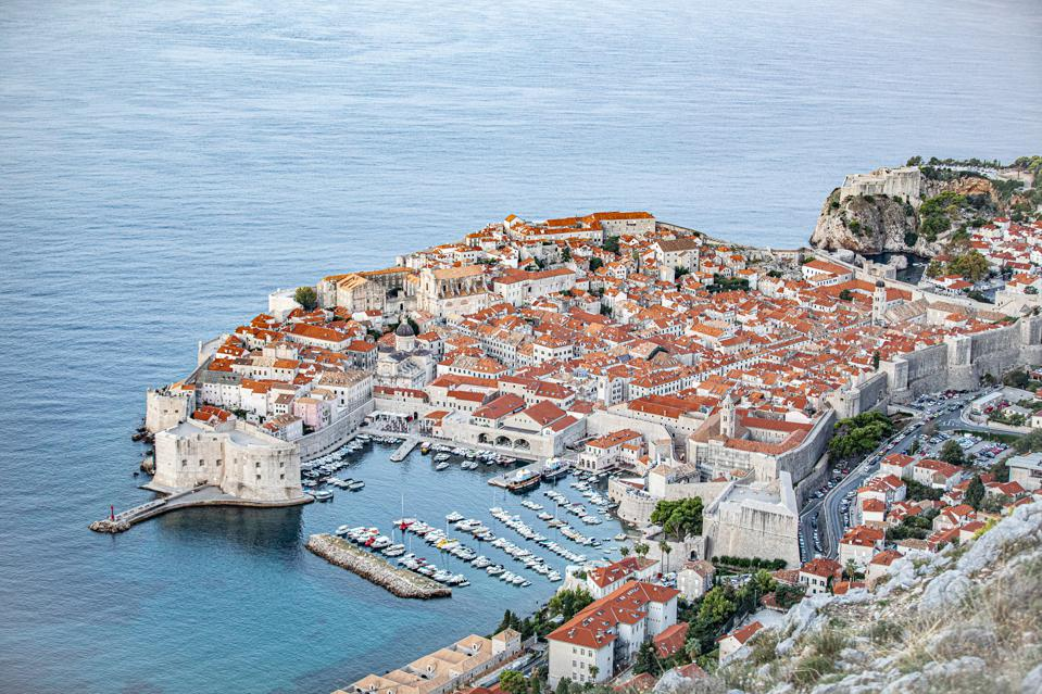 The famous walled city of Dubrovnik
