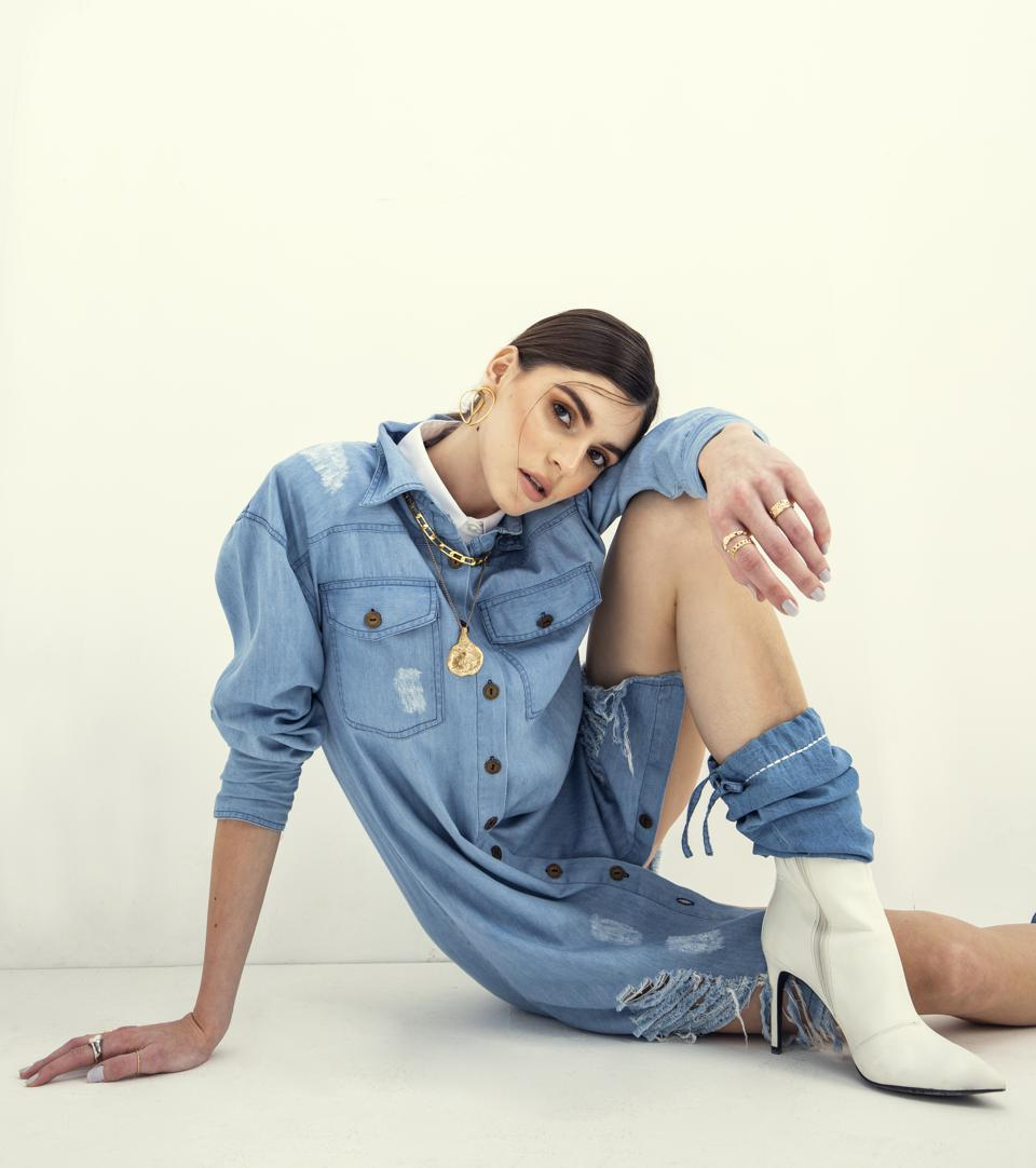Model Wearing There! Denim New Collection