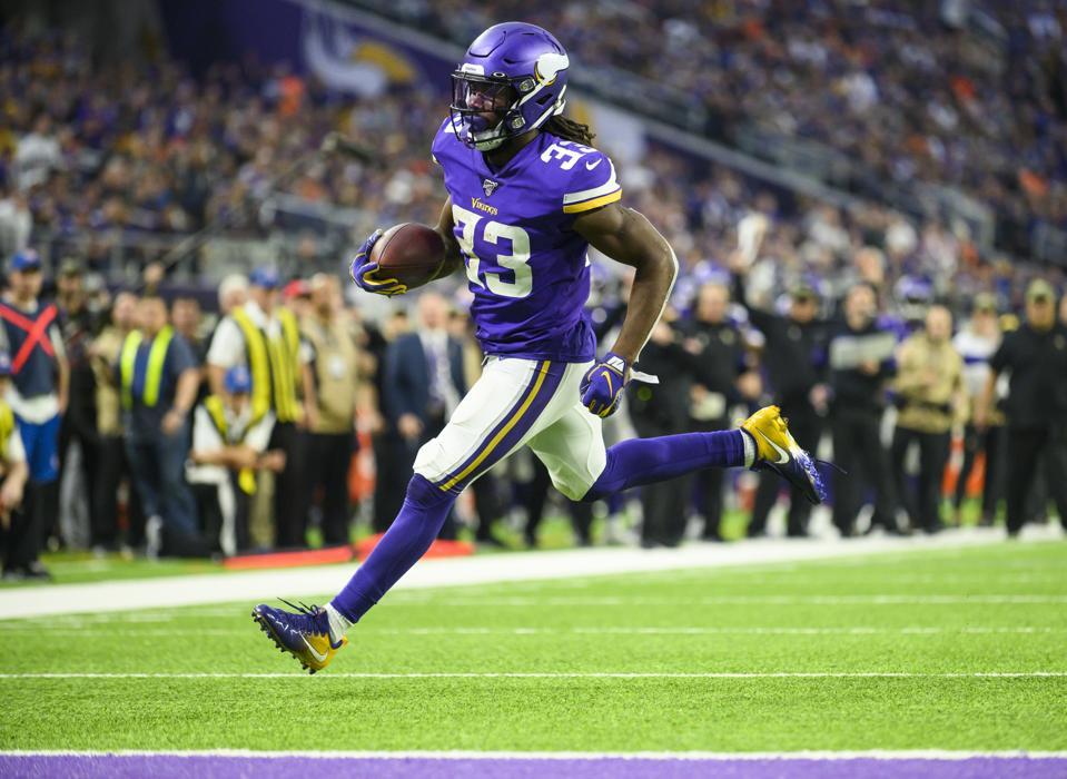 Dalvin Cook NFL running back. Denver Broncos v Minnesota Vikings