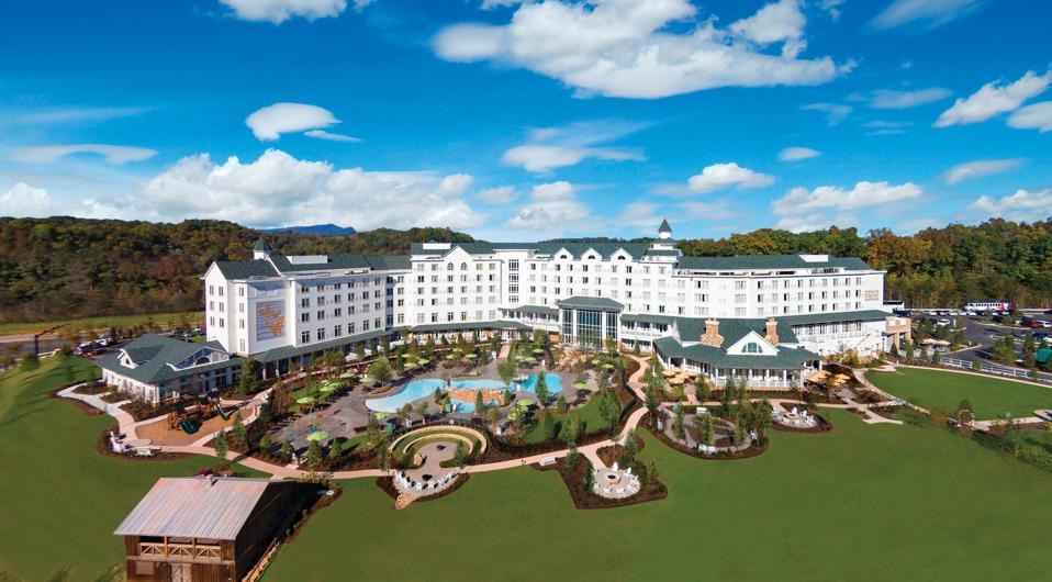 The resort is surrounded by the beauty of the Great Smokey Mountains