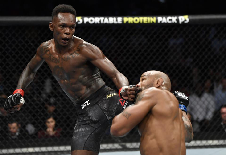 UFC middleweight champion Israel Adesanya faces Paulo Costa in the main event of tonight's UFC 253 ESPN+ streaming pay-per-view card