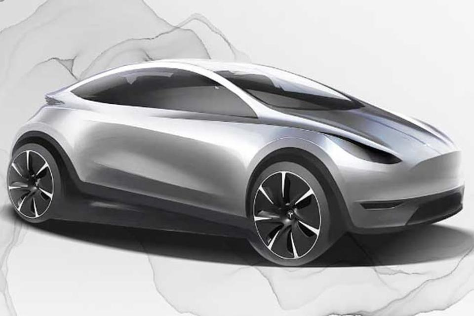 Tesla small car sketch