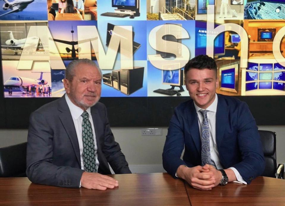 Lord Sugar with Ross Testa