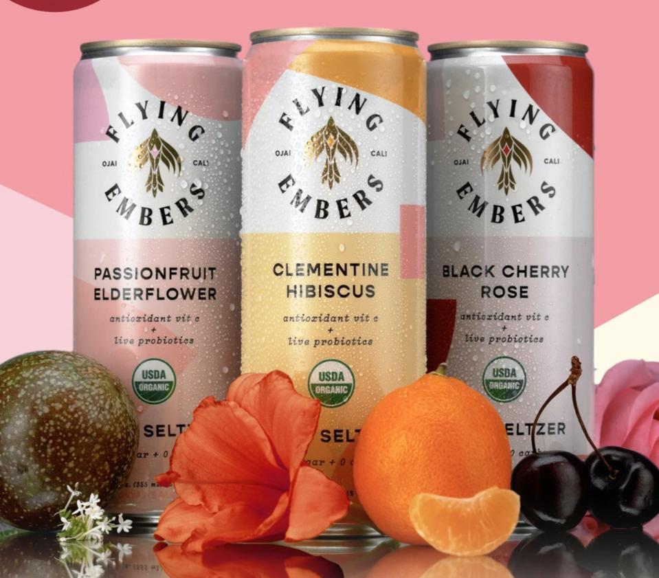 Flying Embers Fruit & Flora Hard Seltzer organic