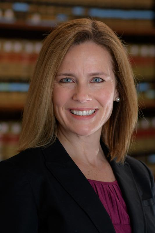 Profile shot of Amy Coney Barrett