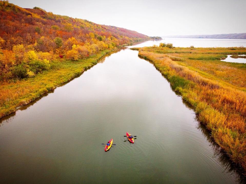 Katepwa Point Provincial Park  fall foliage