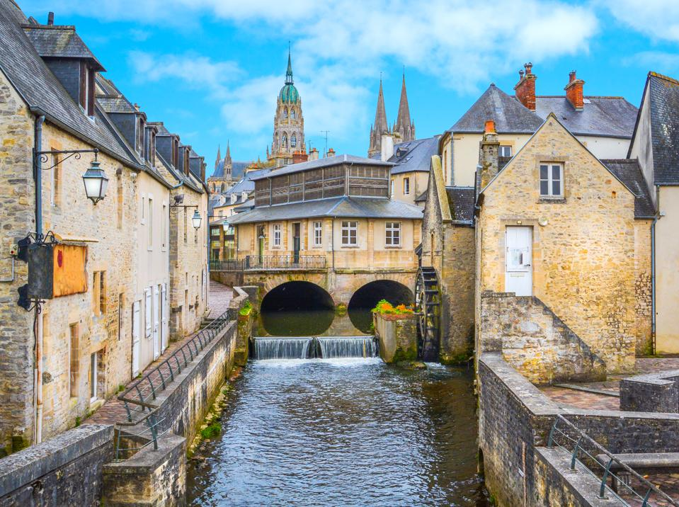 Beautiful Bayeux, a great place to base yourself on a trip to Normandy, France.