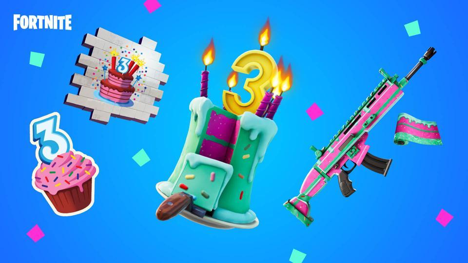 Fortnite birthday bash free rewards
