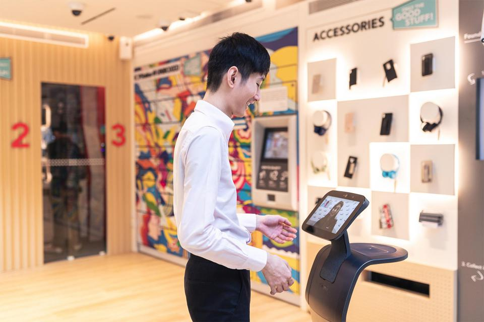 Robots will increasingly be used to aid in-store services, with the support of 5G to improve human-robot interaction.