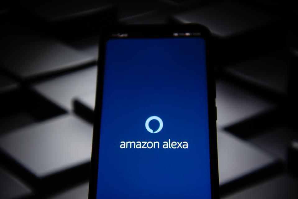 All you need to know about Amazon's new Alexa privacy controls: Amazon Alexa logo seen on a smartphone screen