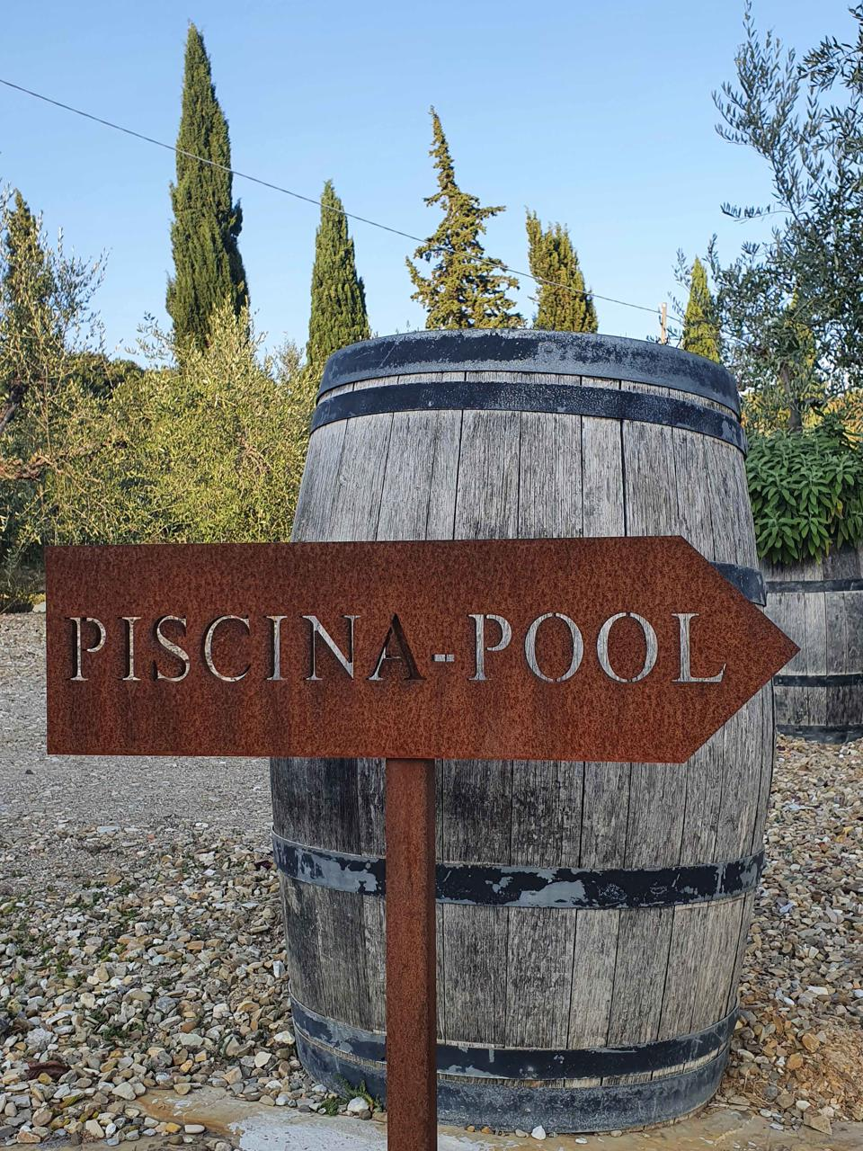 Step into the tubs of pool wine at the Il Palagio winemaker in Tuscany Italy's Panzano Chianti Classico