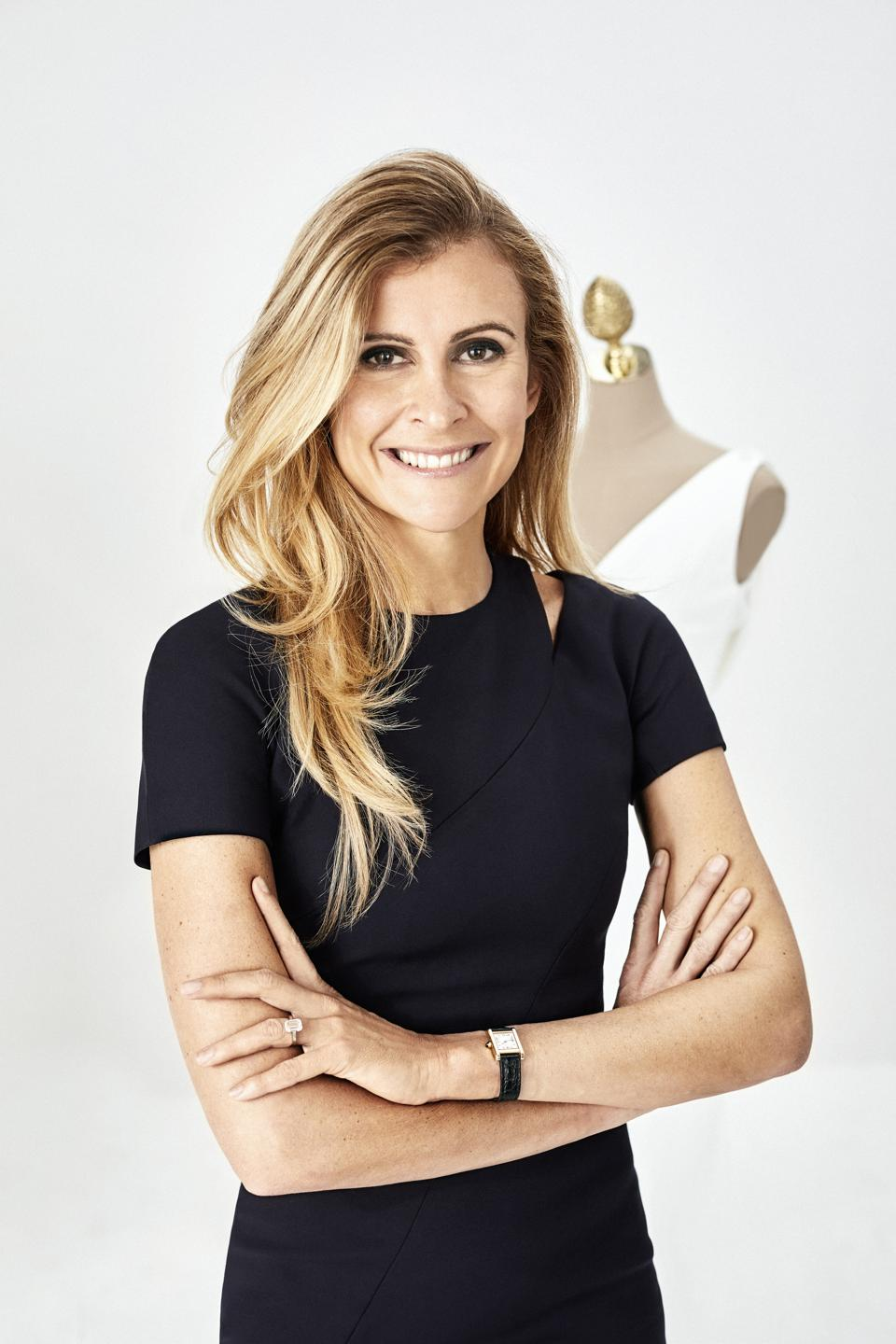 Photo portrait of Amandine Ohayon, the first female CEO at Pronovias Group.